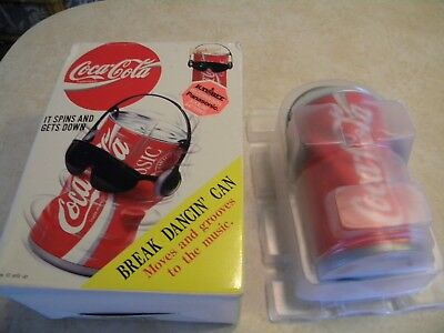 Vintage 1991 Coca Cola Dancing Can New/Tested w/Box Classic Coke  Break Dancin'