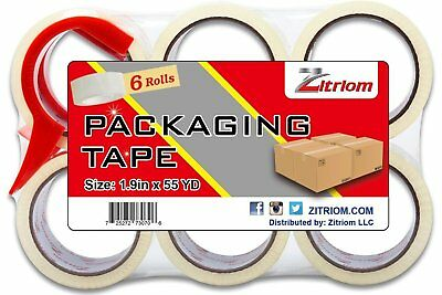 Packing Tape with Dispenser Included Ultra Adhesive Clear Packaging - Box and -