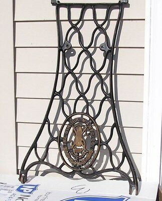 SINGER Sewing Machine - One Treadle Base Stand Leg - Cast Iron - with 1 caster