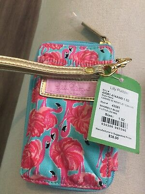 lilly pulitzer wristlet In Flamingo Print