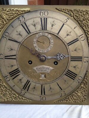 12 Inch LongCase Clock Movement And Dialby Sam Bradley Of Worcester