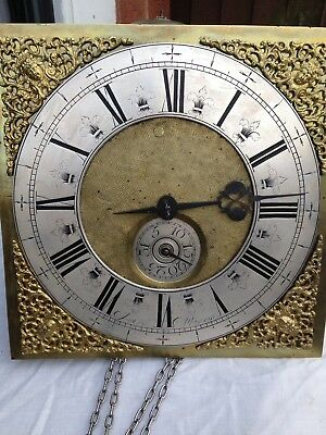 11 Inch Single-Handed Longcase Dial And Movement By Joseph Atkinson