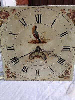 11 Inch Longcase Clock Movement And Dial By Olive And Reader