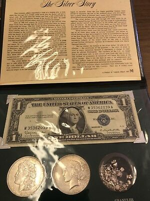 Silver Dollar Set (2-Coin Set)  - With Silver Certificate and The Silver Story