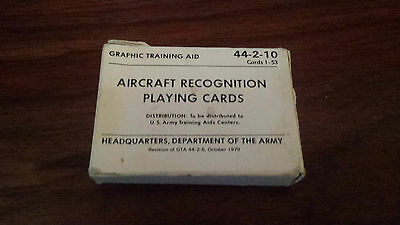 Aircraft Recognition Playing Cards US Army 1979