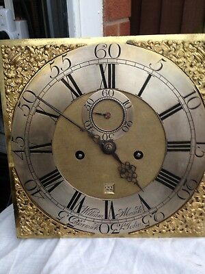 12 Inch Longcase Clock Movement And Dial By William Monk