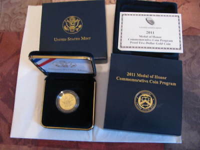 2011 Medal of Honor Proof $5 Gold Commemorative - Free Shipping US