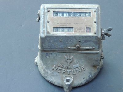 Rare Vintage 1930's-40's Neptune Fuel Meter Gallons Delivery Steampunk