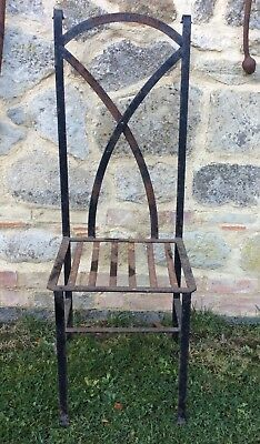 Antique / Vintage Blacksmith Made Iron Chair