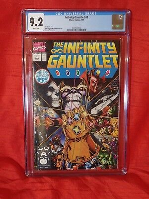 Infinity Gauntlet 1 CGC 9.2. White Pages — New Case — No Reserve