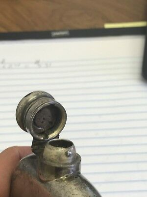 STERLING SILVER FLASK - Old Antique - Pirate Treasure