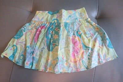 Lilly Pulitzer Peacock Skirt Size 6 Euc