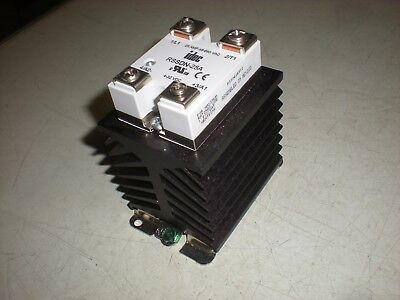 Idec RSSDN-25A Solid State Relay mounted to a Heat Sink to Increase Amp Rating