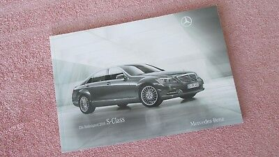 2010 Redesigned Mercedes-Benz S-Class Sales Brochure - 48 pages - FREE SHIPPING