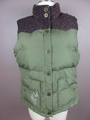 *old Navy* Size Xl Women's Brown/green Snap Down Vest W/side Pockets