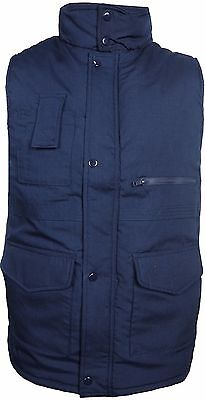 Mens Bodywarmer Padded Waistcoat Front Pockets Winter Jacket 3XL 4XL 5XL 6XL