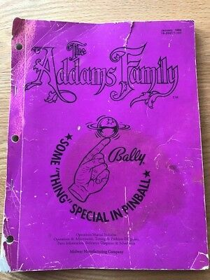 Addams Family (Bally) original manual & WPC Schematic FREE SHIPPING