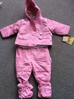 BNWT Girls Winter Suit Set By Celebrity Baby (6-9 Months) ***FREE UK P&P***