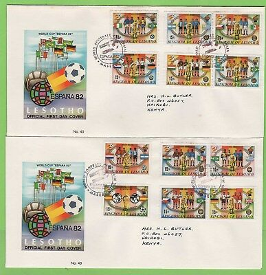 Lesotho 1982 Football Issue on two on First Day Covers