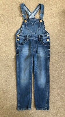 Girls HM denim Dungarees Age 3-4 Years