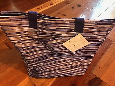 THIRTYONE Thirty-One 31 Gifts Quick Cinch THermal BRAND NEW Geo Stripe