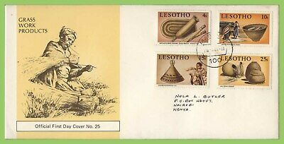 Lesotho 1981 Grasswork set on First Day Cover