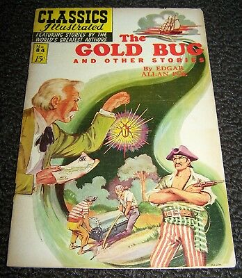 Classics Illustrated #84 HRN-167 The Gold Bug & Other Stories by Edgar Alan Poe