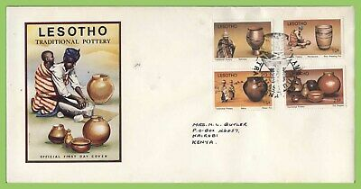 Lesotho 1980 Pottery set on First Day Cover