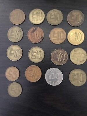 south korean coins and bill