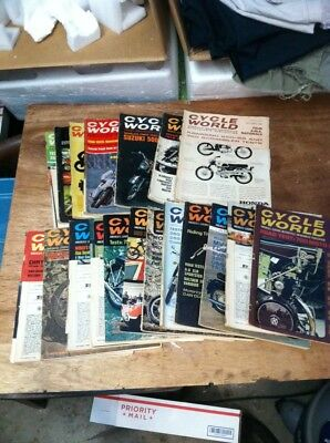 1967 And 1968 Issues Of Cycle World 7 Issues Of 67 And All Of 68