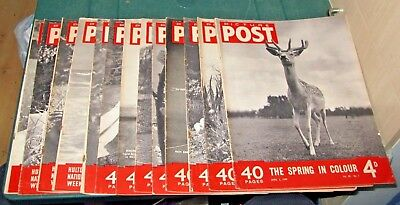 Picture Post Magazine Vol.43 Complete 2Nd April To 25Th June 1949 - 13 Issues