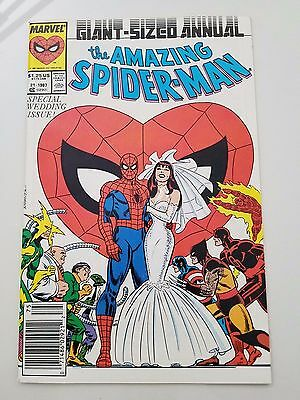 The Amazing Spider-Man Giant-Sized Annual #21 (1987) Marvel Wedding To Mary Jane