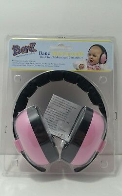 Baby Banz Newborn Hearing Protection Earmuff Pink 3 months - Free Shipping - A14