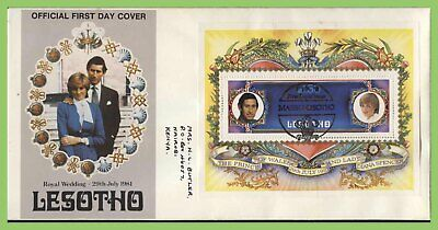 Lesotho 1981 Royal Wedding m/s on First Day Cover