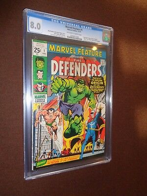 Marvel Feature #1 (1971) * The Defenders 1st Appearance* CGC 8.0 * OW/W Pgs *
