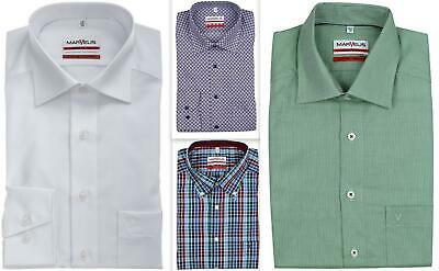 Mens Business Shirt Marvelis Tall Fit 69cm Sleeve Modern Fit Non Iron Cotton