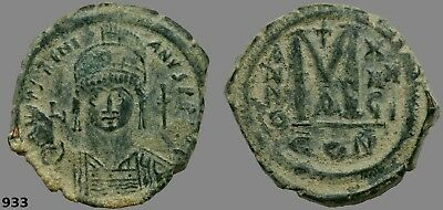 Large Justinian I Follis, Huge, heavy and well struck, Great Patina and color