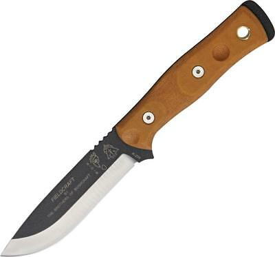 TOPS Brothers of Bushcraft Hunter Fixed Blade Brown Handle Survival Knife BROS01