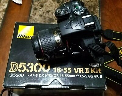 Nikon D5300 Bundle with 18-55mm Lens, extra batteries and power cord