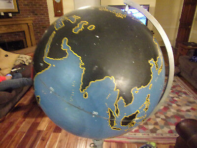 rare vintage denoyer geppert WWII globe with stand