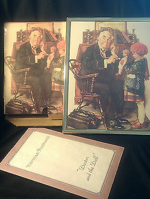 FRAMED GALLERY PRINT-Norman Rockwell-Doctor and the Doll+BOX+BOOKLET-Pristine