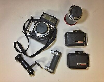 Graflex Xl With  Lenses And Film Backs And More Euc Price Reduced!!!!