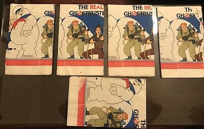 Lot of Five 1986 Ghostbusters Tablecloths Never Used — Fun For a Party!