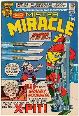Mister Miracle #2 (1971) First appearance Granny Goodness Jack Kirby X-Pit FN/VF