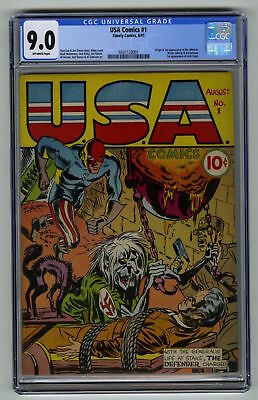 USA Comics #1 CGC 9.0 HI GRADE Timely Gold 1st Whizzer Mister Liberty Rocketman