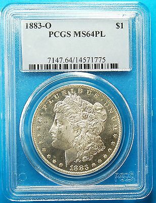 1883-O Morgan Silver Dollar, PCGS, MS64PL,  REDUCED TO SELL,  FREE SHIPPING