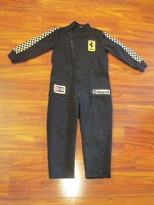 Boys Black Ferrari / Pirelli / Champion One-Piece Racing Suit - Size 7
