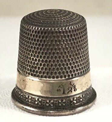 Fun Collectible Antique Sterling Silver .925 THIMBLE Sewing Tool!:)