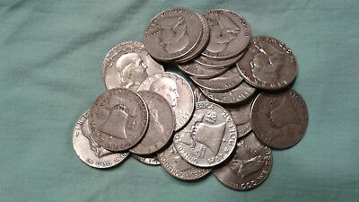 90% Silver Coin Lot of Circulated Franklin Half Dollars Choose 1 or more