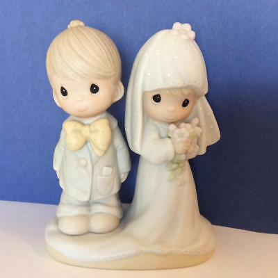 Enesco Precious Moments THE LORD BLESS YOU AND KEEP YOU Wedding Topper Figurine